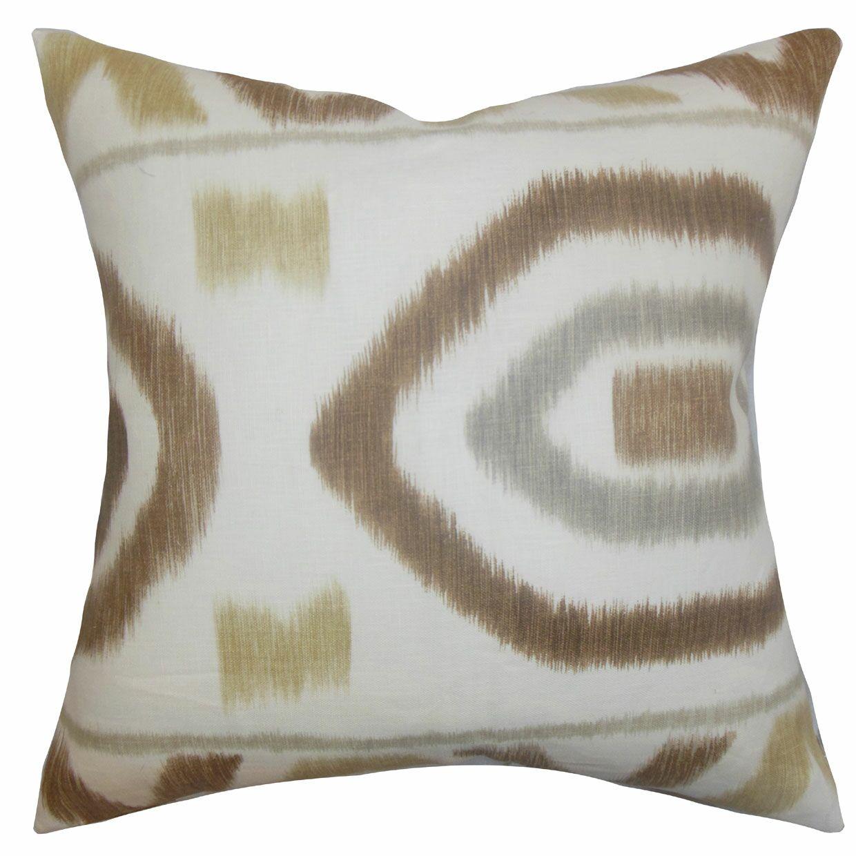 Rivka Geometric Cotton Throw Pillow Color: Rattan, Size: 22