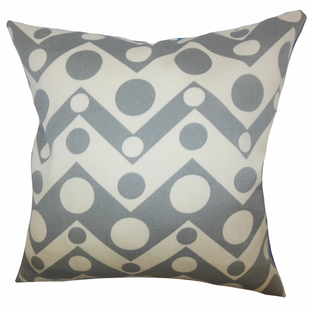 Quenby Geometric Throw Pillow Color: Grey, Size: 24