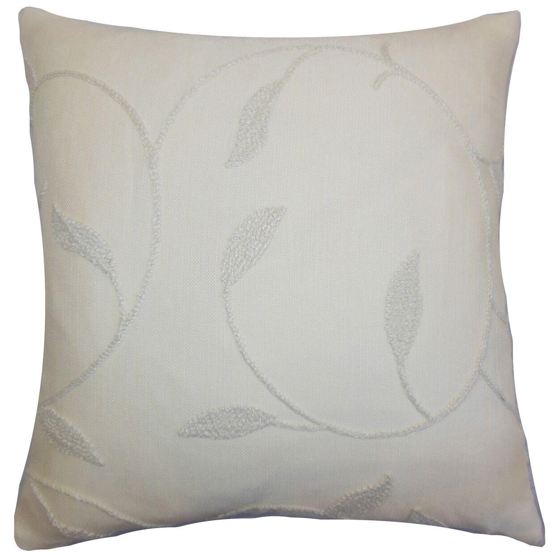 Delyth Floral Throw Pillow Color: Vanilla, Size: 24