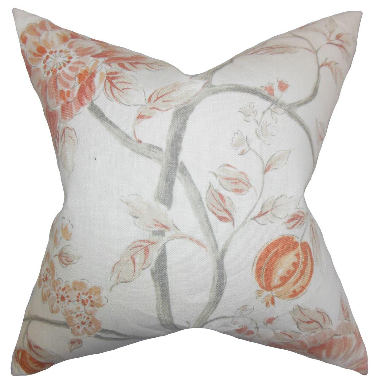 Ivria Floral Linen Throw Pillow Color: Bloom, Size: 24