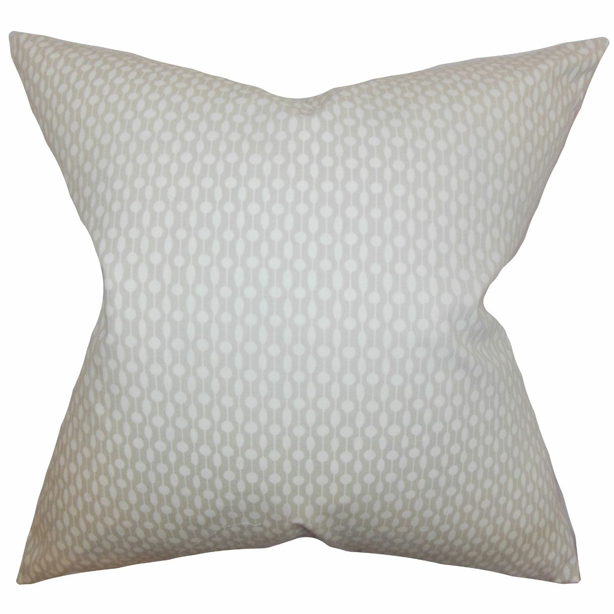 Orit Geometric Cotton Throw Pillow Color: Oyster, Size: 24