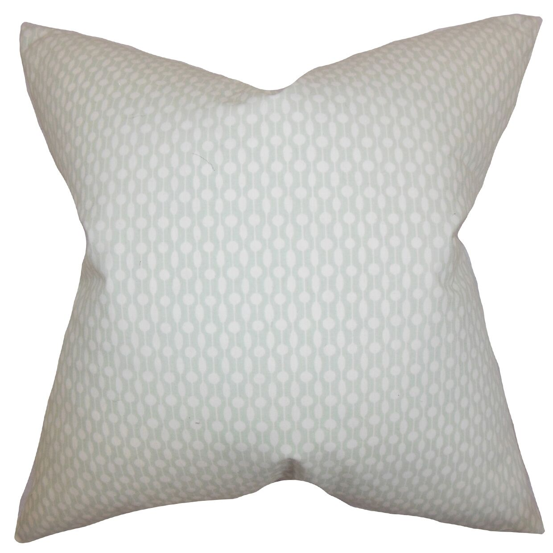 Orit Geometric Bedding Sham Size: Euro, Color: Gray