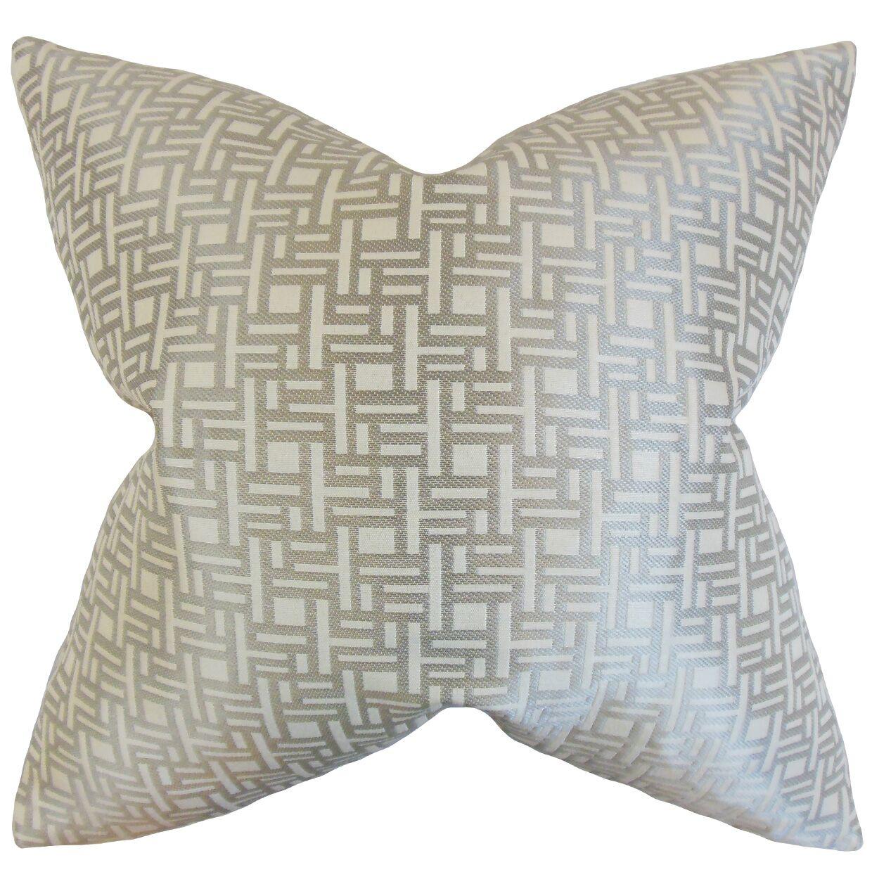 Daphnis Geometric Bedding Sham Size: Standard, Color: Gray