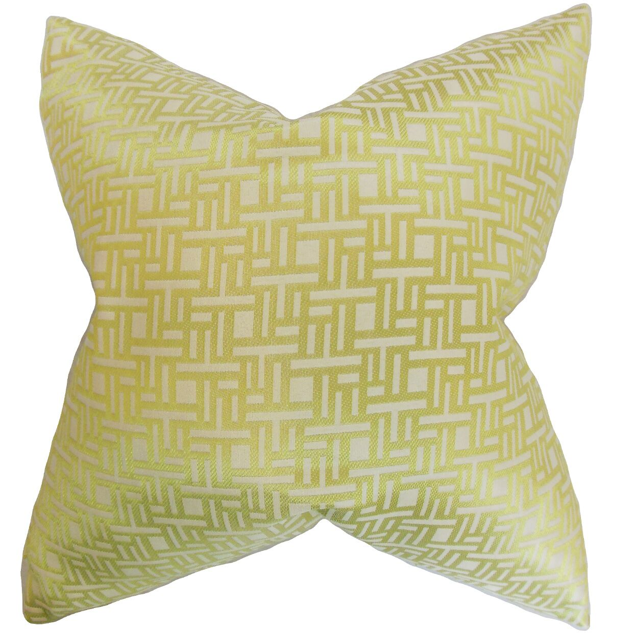 Daphnis Geometric Throw Pillow Color: Keylime, Size: 22