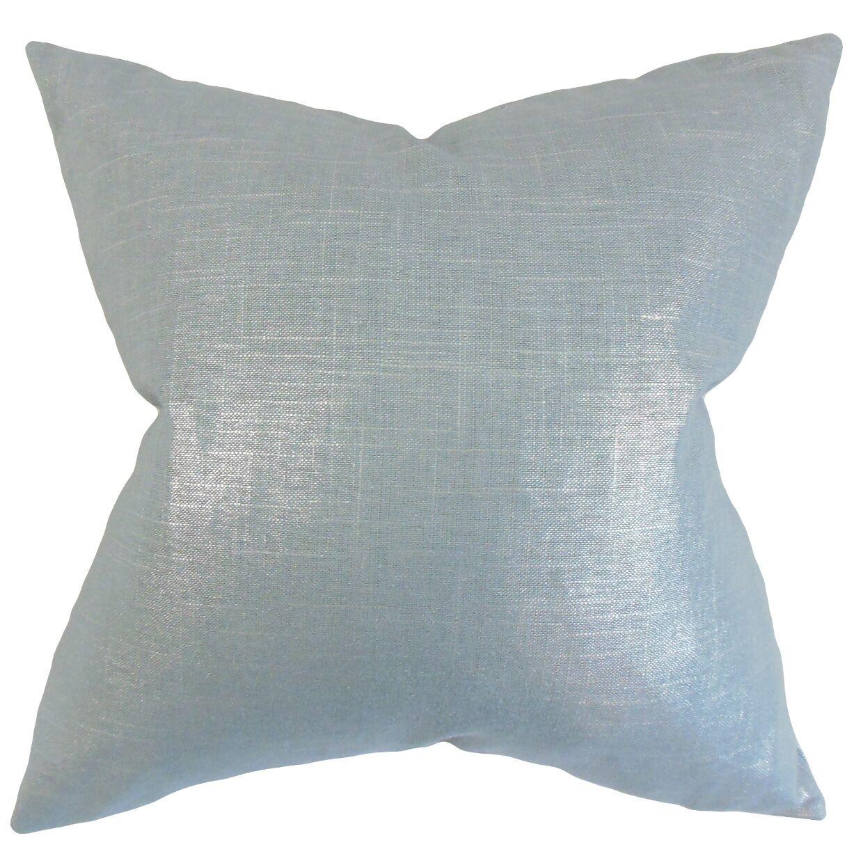 Florin Solid Bedding Sham Size: Euro, Color: Light Blue