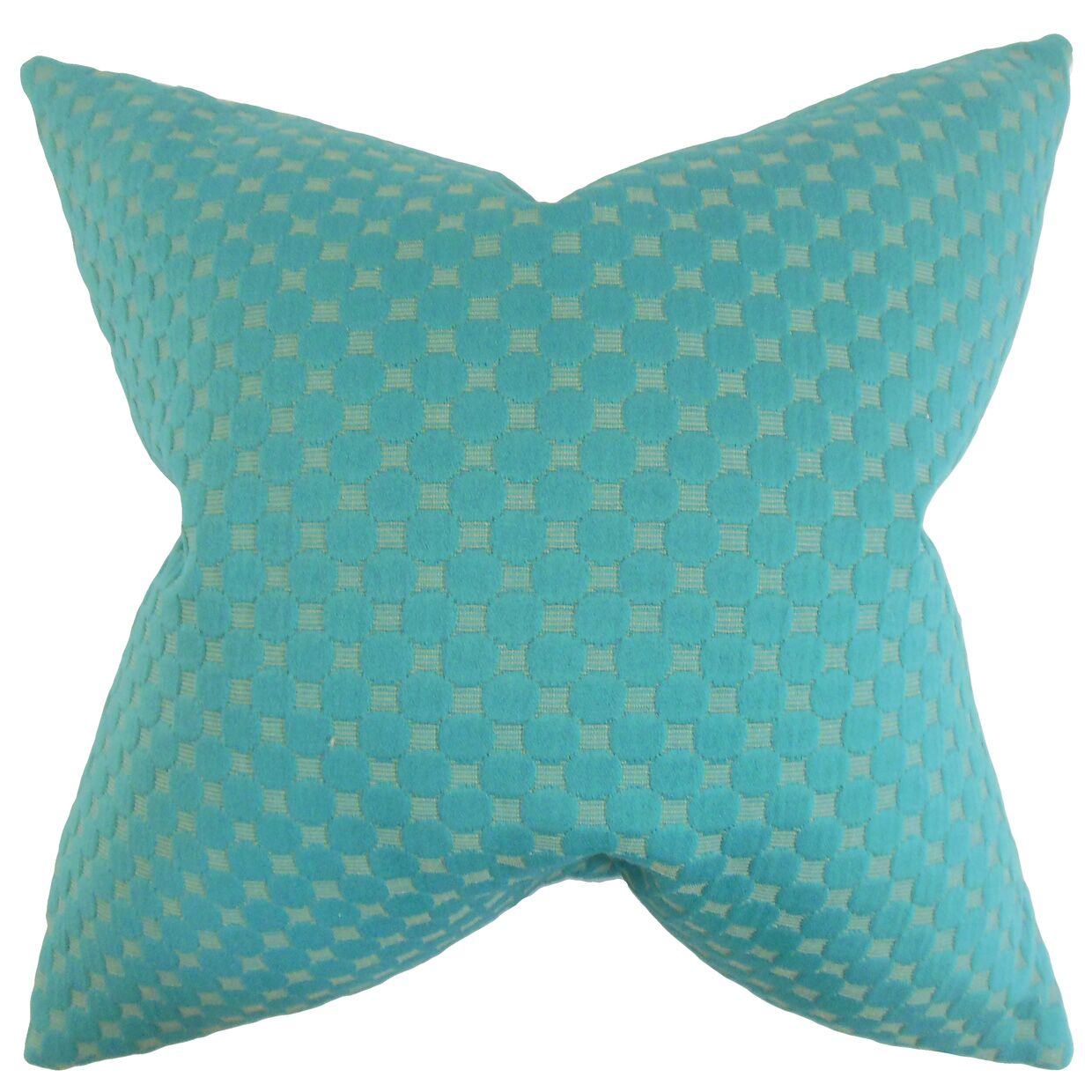 Kasen Solid Throw Pillow Color: Teal, Size: 22