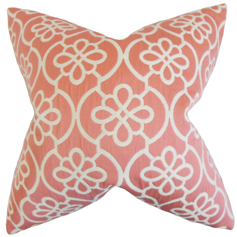 Chaplain Contemporary Geometric Bedding Sham Size: Euro, Color: Coral