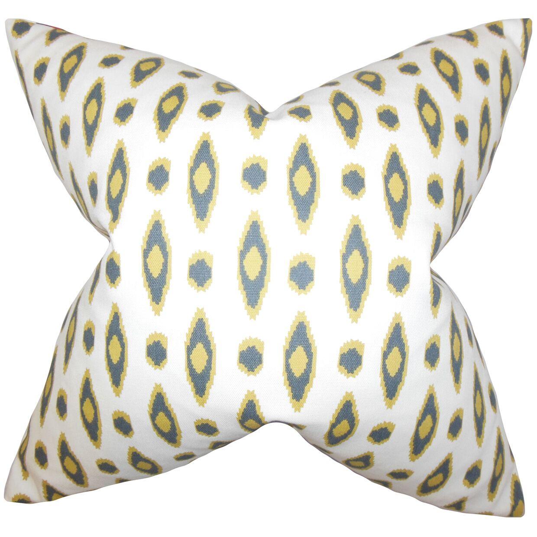 Vanelle Geometric Bedding Sham Size: Queen, Color: White