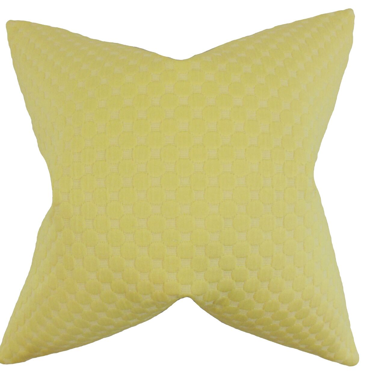 Kasen Solid Throw Pillow Color: Yellow, Size: 24