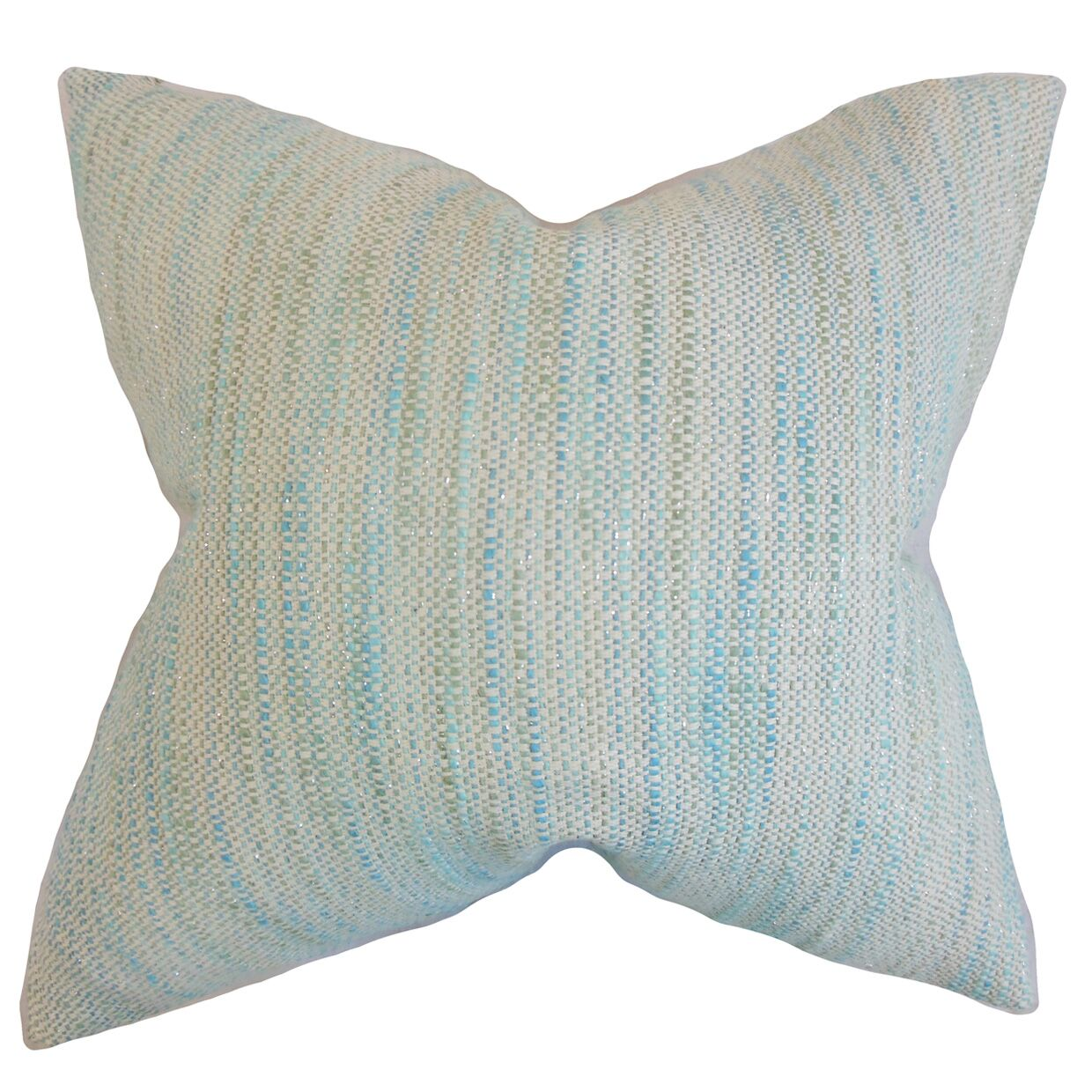 Chrisholm Striped Throw Pillow Color: Baby Blue, Size: 24