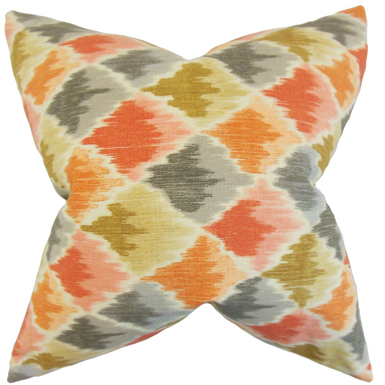Yarrow Geometric Bedding Sham Size: King, Color: Harvest