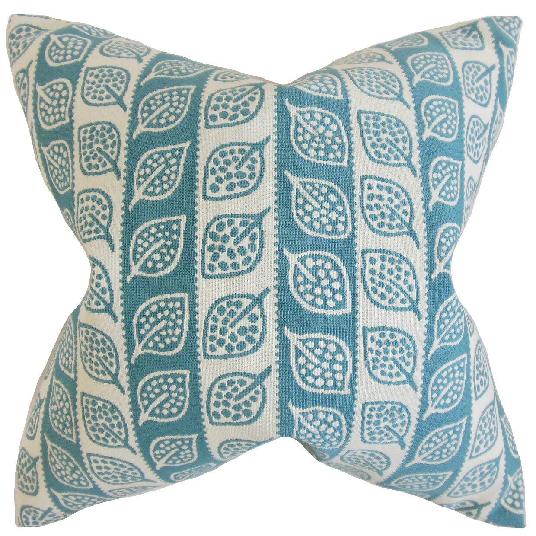 Ottilie Foliage Throw Pillow Color: Blue, Size: 24
