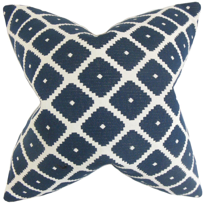 Fallon Geometric Bedding Sham Size: Euro, Color: Blue