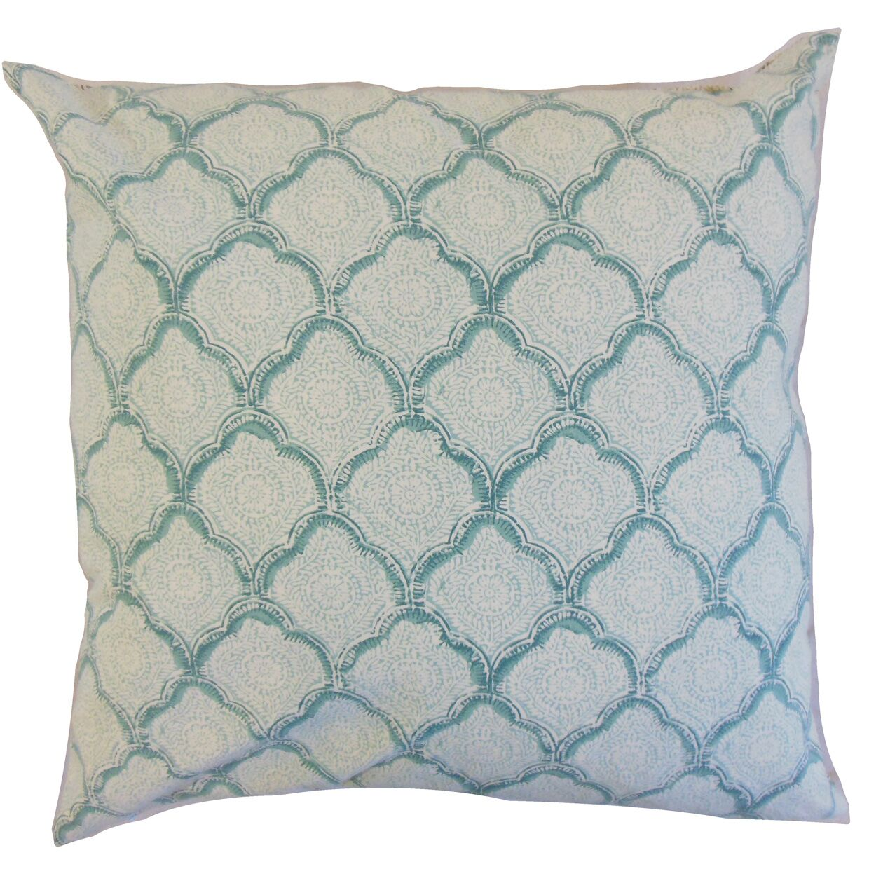 Chaney Geometric Bedding Sham Size: Euro, Color: Aqua Mist