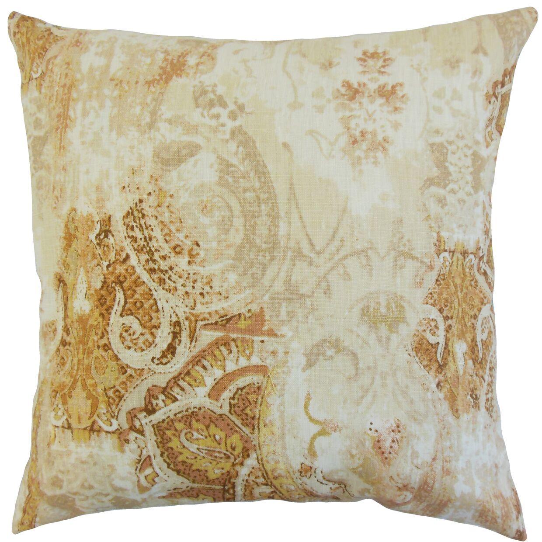 Havilah Floral Bedding Sham Size: Standard, Color: Amber