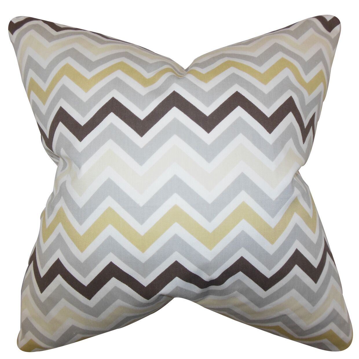 Howel Zigzag Cotton Throw Pillow Color: Gray, Size: 24