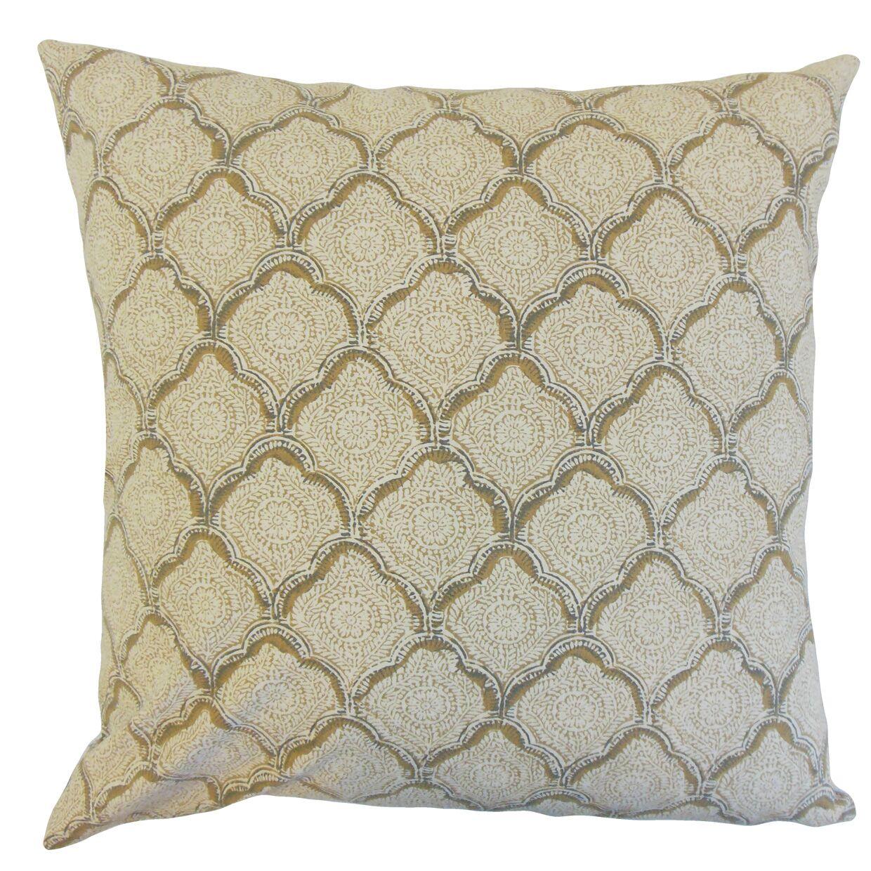 Chaney Geometric Bedding Sham Color: Wheat, Size: King