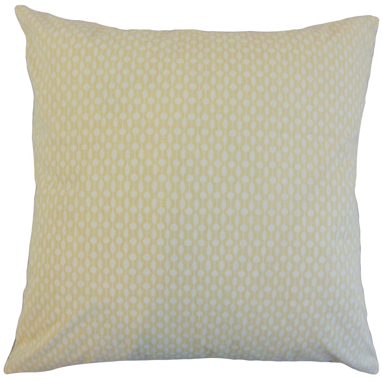 Orit Geometric Cotton Throw Pillow Color: Honey, Size: 24