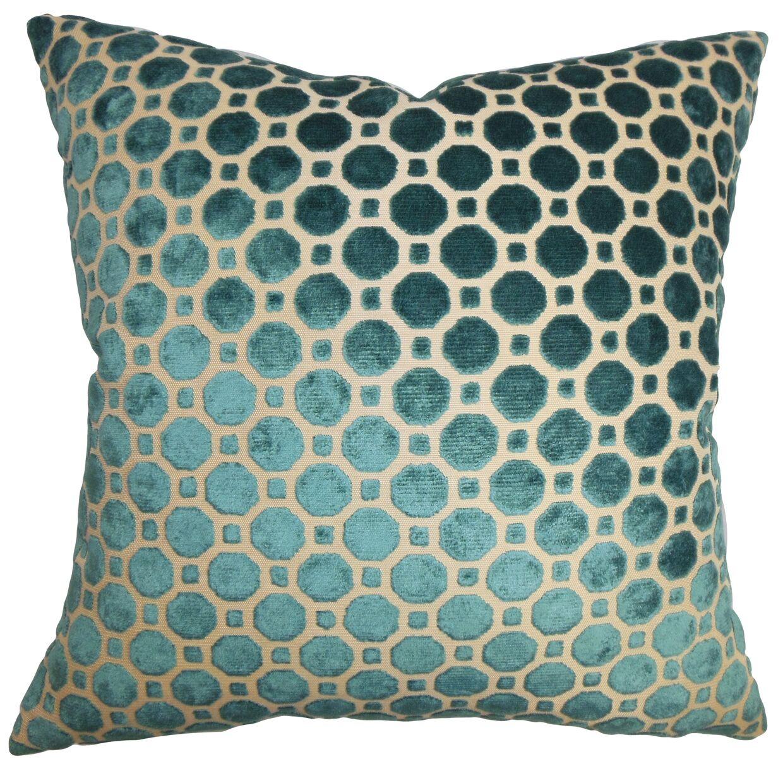 Maeve Geometric Bedding Sham Size: King, Color: Turquoise