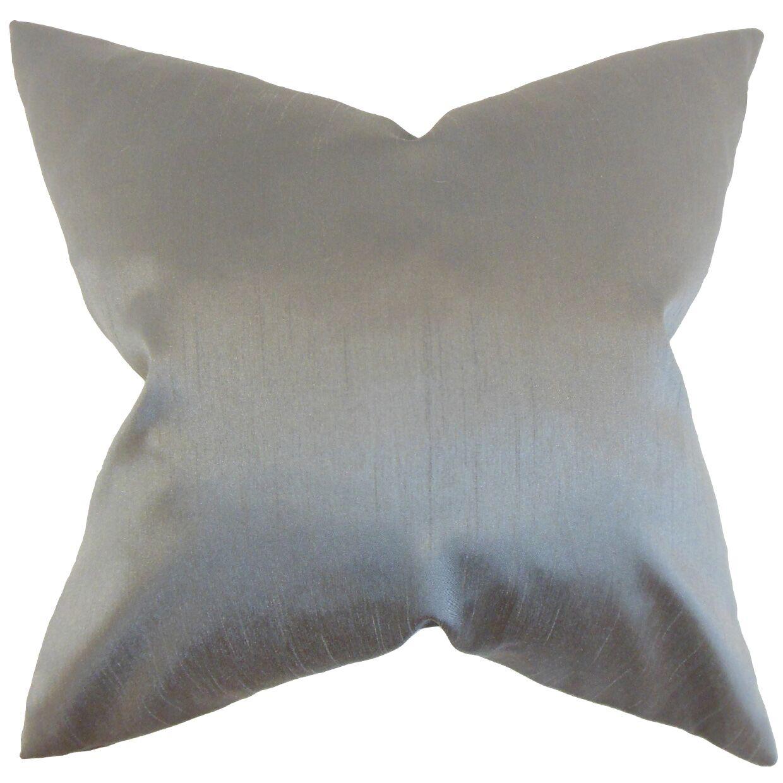 Burchard Solid Bedding Sham Size: King, Color: Gray