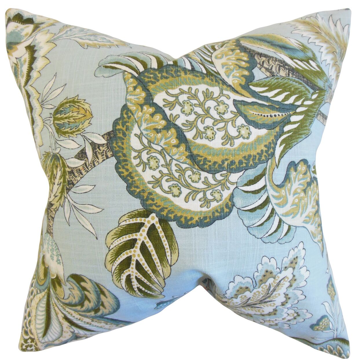 Oberon Cotton Throw Pillow Color: Mineral, Size: 24