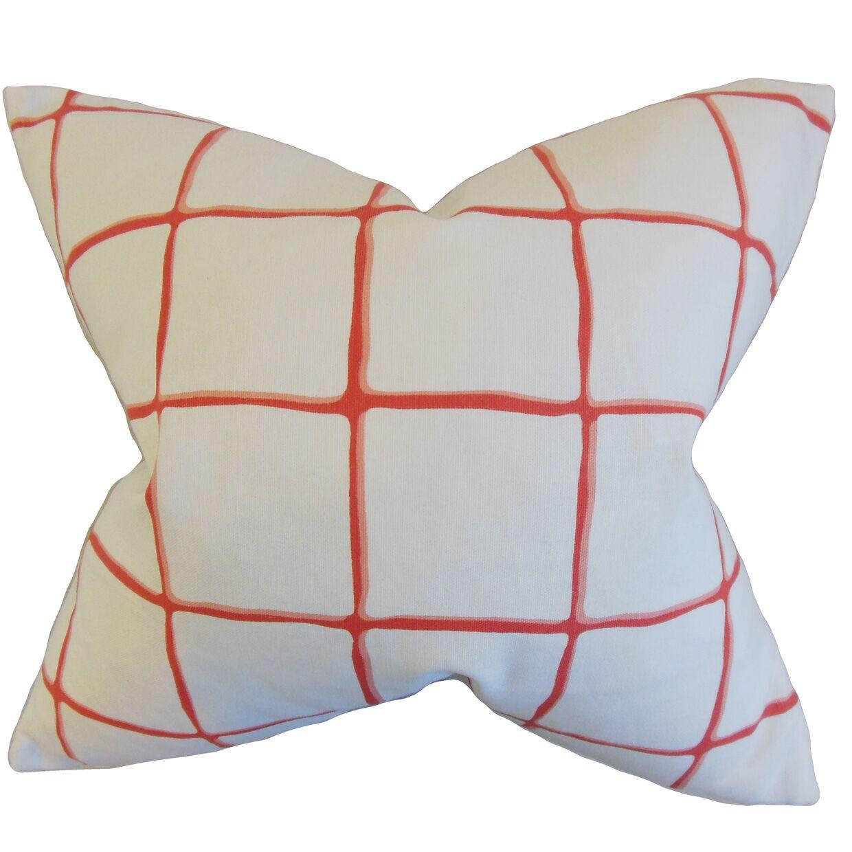 Owen Cotton Throw Pillow Color: Poppy, Size: 24