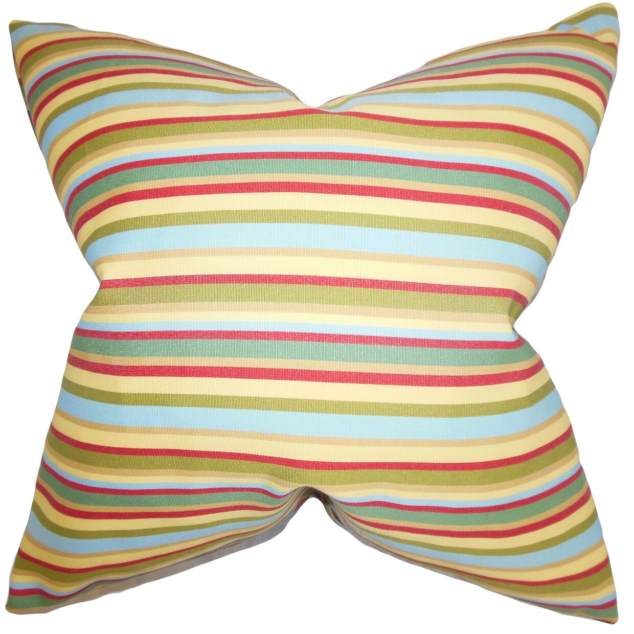 Libby Stripes Throw Pillow Color: Multi, Size: 22
