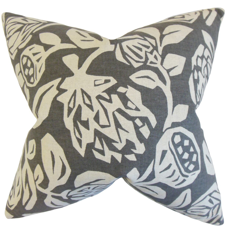Kiernan Floral Bedding Sham Color: Gray, Size: Euro