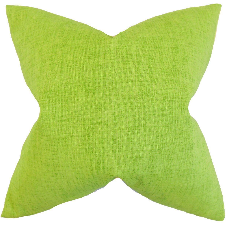 Leda Solid Bedding Sham Size: King, Color: Lime
