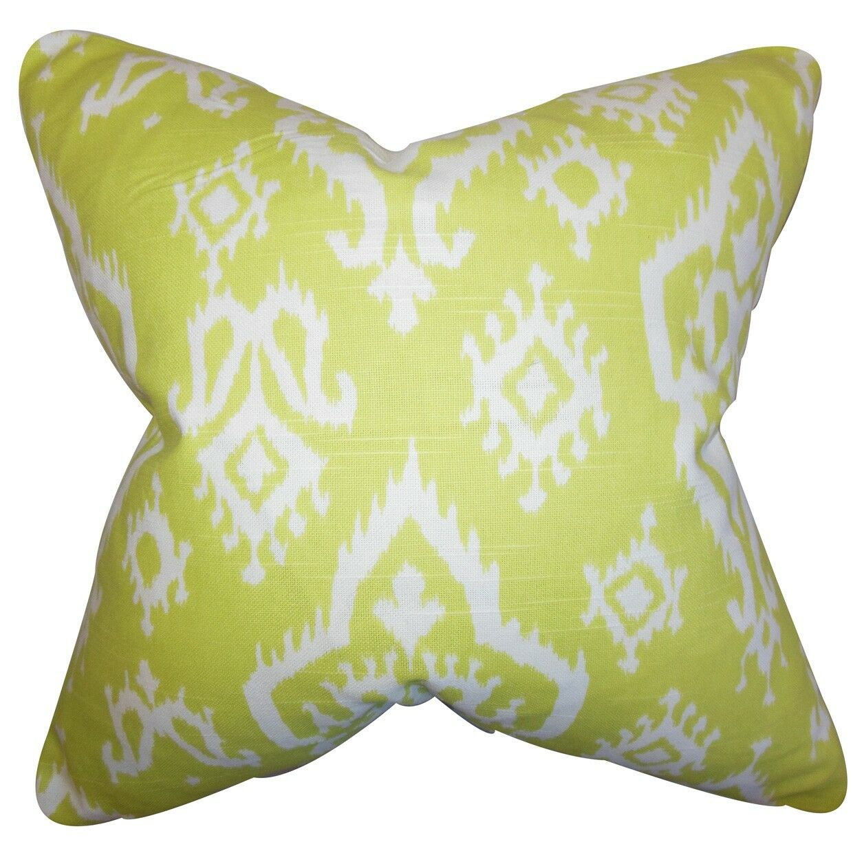 Ishaq Ikat Throw Pillow Size: 24