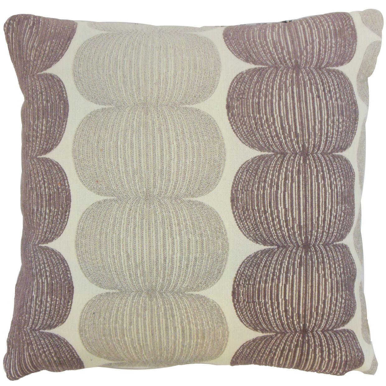 Sophronia Graphic Bedding Sham Size: Queen, Color: Plum