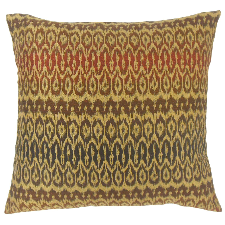 Delray Ikat Bedding Sham Color: Tiki, Size: Euro
