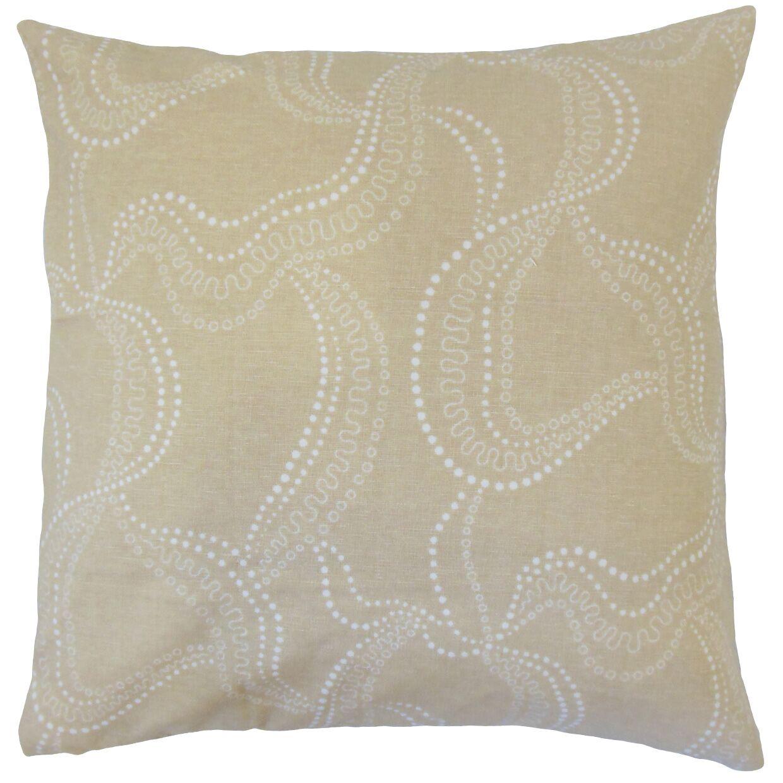 Afia Graphic Bedding Sham Size: King, Color: Sand