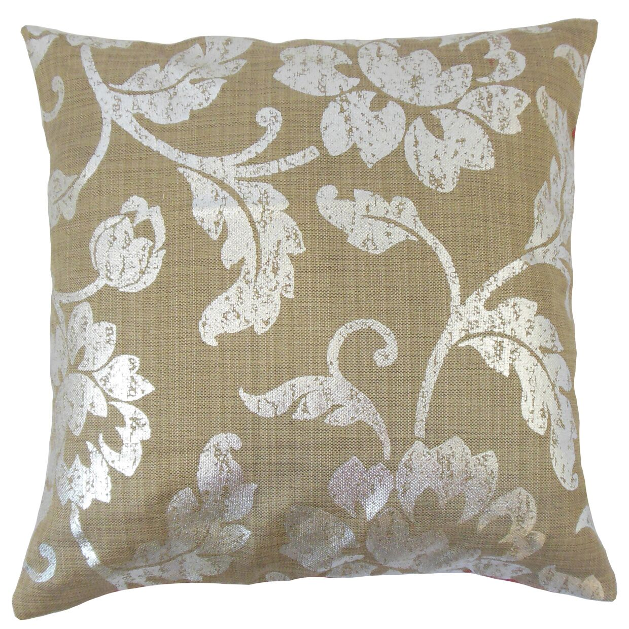 Berdine Floral Throw Pillow Color: Cocoa, Size: 22