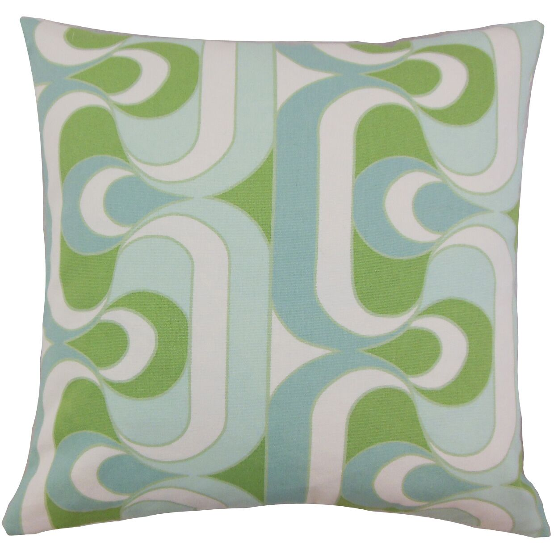 Nairobi Cotton Throw Pillow Color: Aqua Green, Size: 22