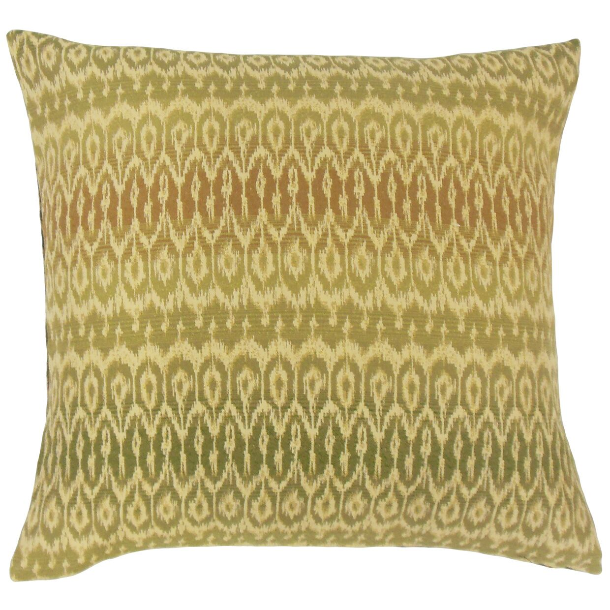 Delray Ikat Bedding Sham Size: Euro, Color: Jungle