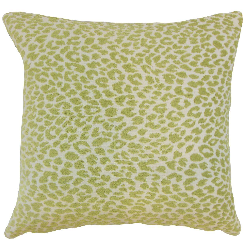 Pesach Animal Print Bedding Sham Size: King, Color: Kiwi