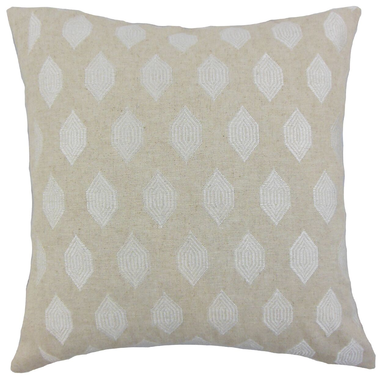 Gal Throw Pillow Color: Linen, Size: 20