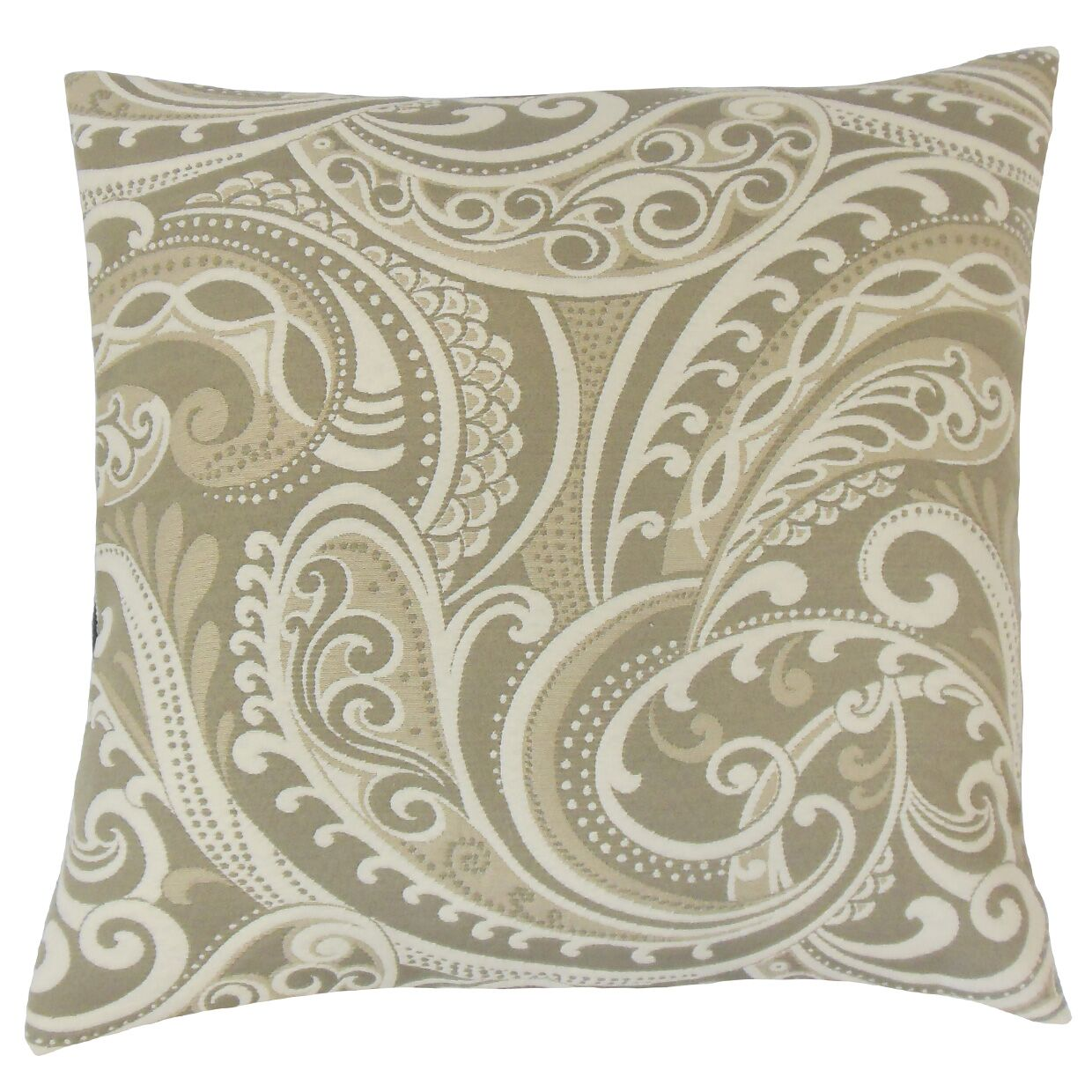 Natashaly Damask Bedding Sham Size: Queen, Color: Linen