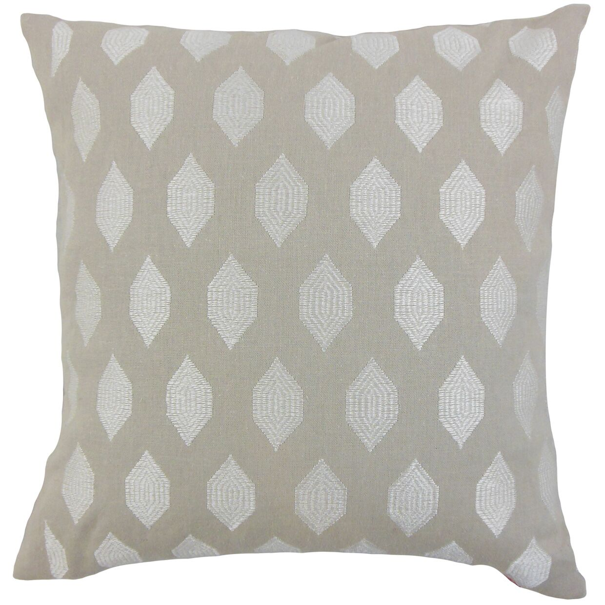 Gal Geometric Bedding Sham Size: Queen, Color: Stone