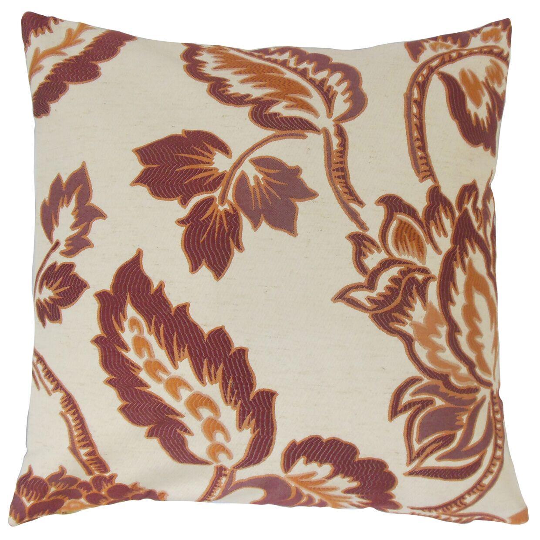 Rhynisha Floral Bedding Sham Size: Euro, Color: Ginger