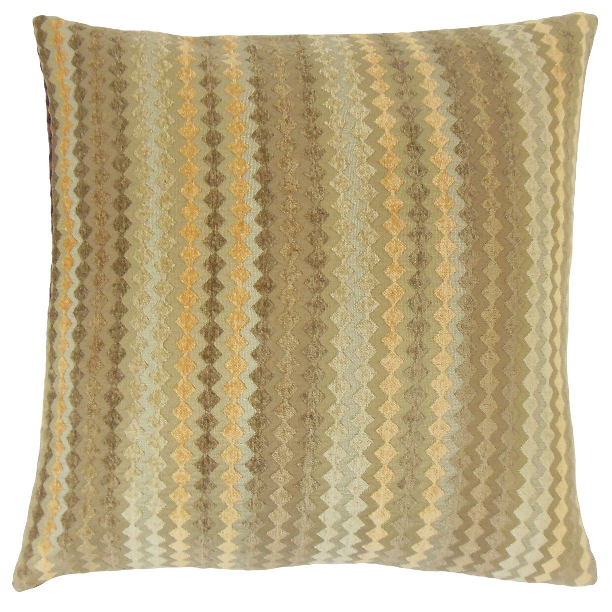 Kawena Geometric Bedding Sham Size: Queen, Color: Fawn