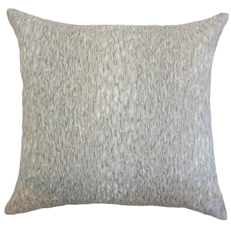 Galen Linen Throw Pillow Color: Metal, Size: 24