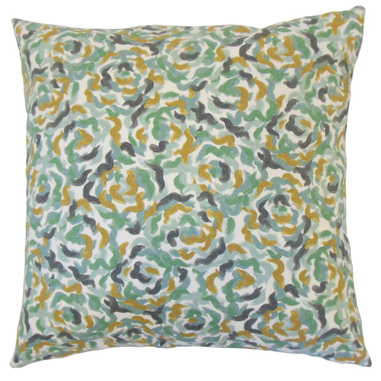Junayd Graphic Cotton Throw Pillow Color: Dew, Size: 24