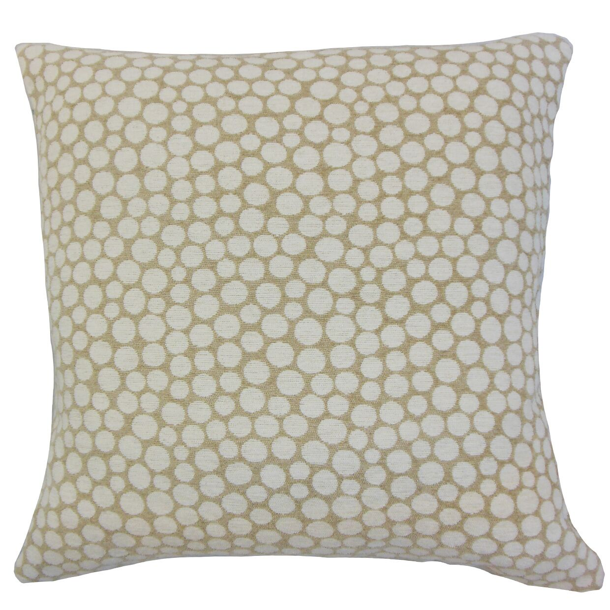 Elif Polka Dot Throw Pillow Color: Sand, Size: 24