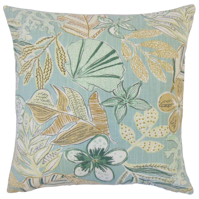 Felice Cotton Throw Pillow Color: Dew, Size: 22