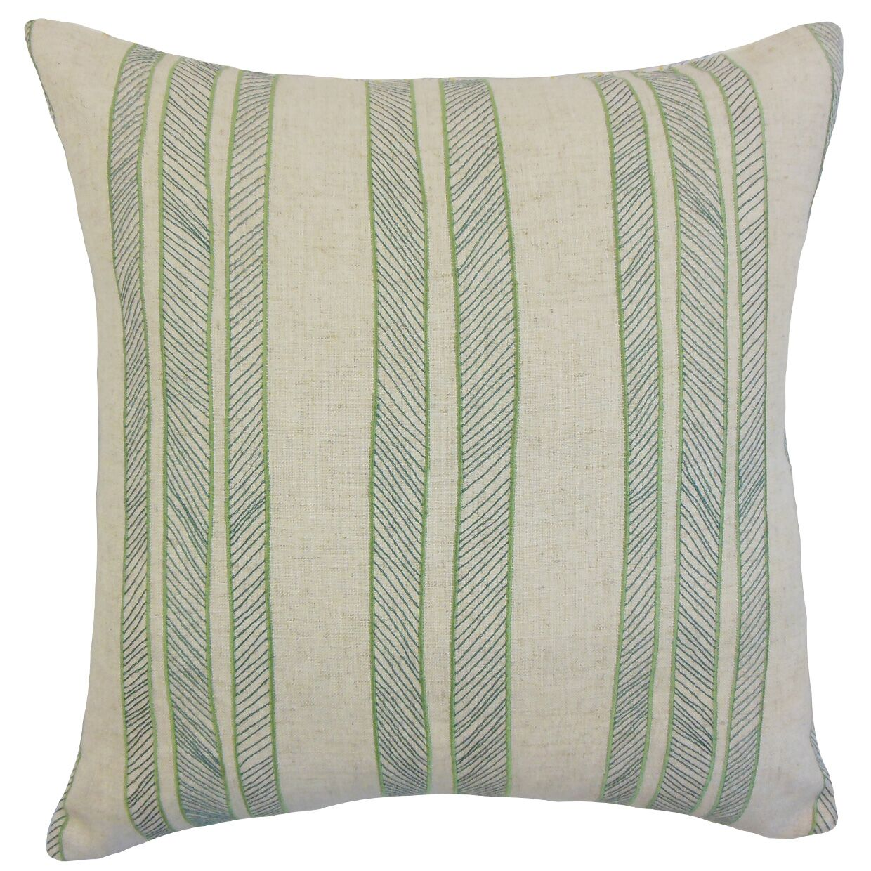 Drum Stripes Throw Pillow Color: Grass, Size: 22