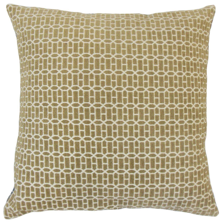 Yancy Geometric Bedding Sham Size: King, Color: Raffia