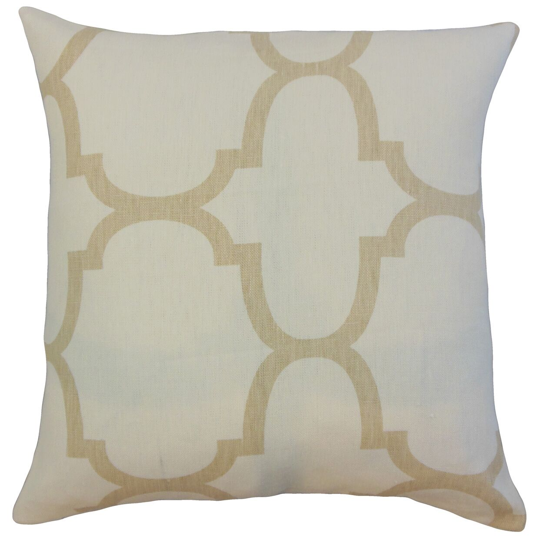 Channon Geometric Bedding Sham Color: Ivory, Size: King