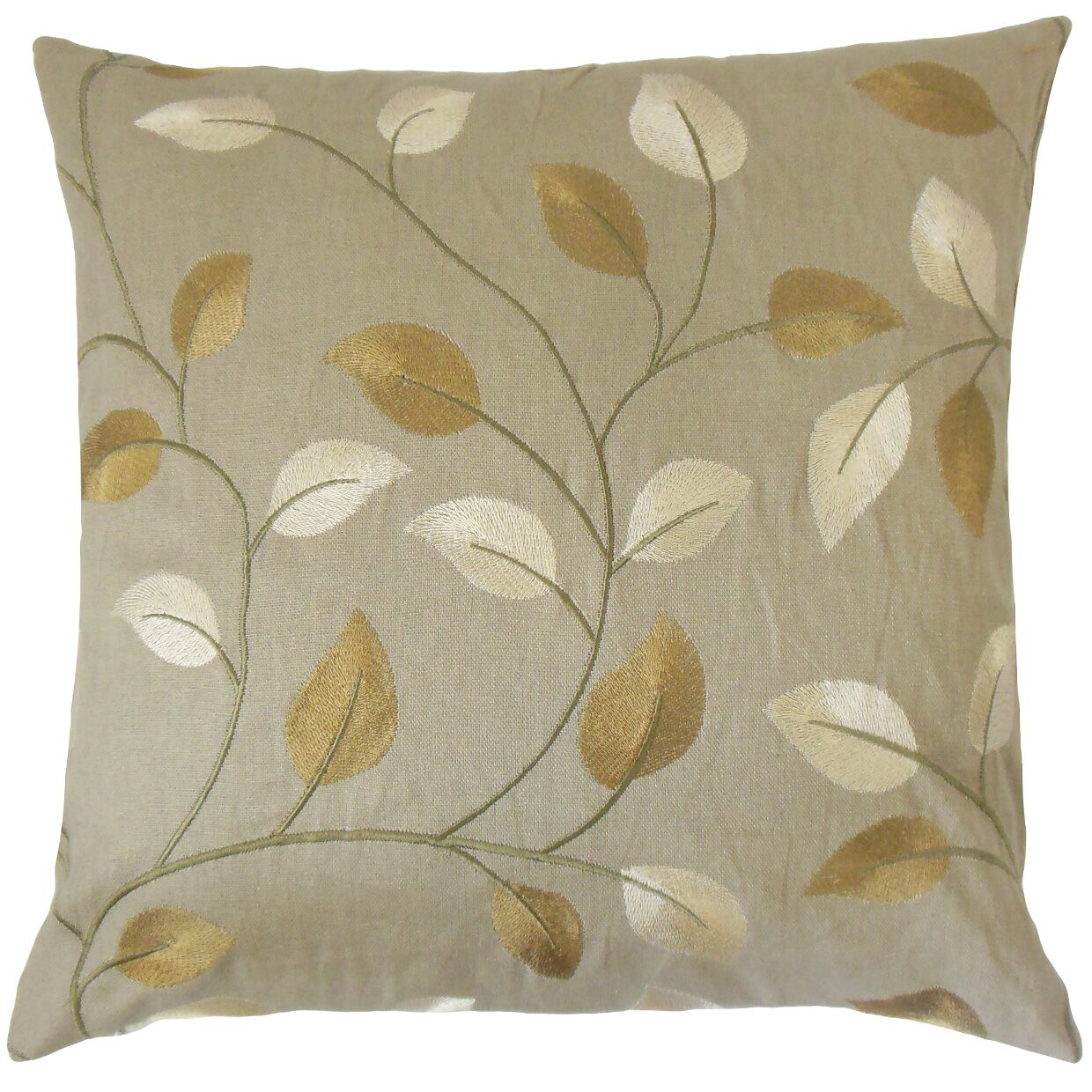Lawahiz Foliage Cotton Throw Pillow Size: 20
